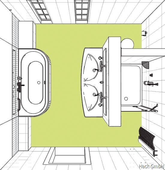 Horst hack gmbh nauheim das zeitlose bad for Hotel badezimmer grundriss